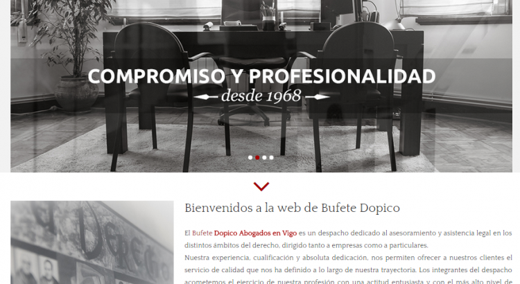 Presentaci n de la nueva web de dopico abogados bufete Honorarios clausula suelo